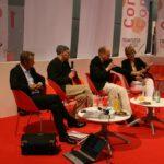 Proust-Comic-Diskussion: Stéphane Heuet, Kai Wilksen, Andreas Platthaus, Rosemarie von dem Knesebeck (v.l.)